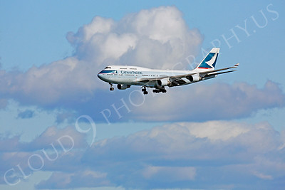B747 01240 Boeing 747 Cathay Pacific by Peter J Mancus