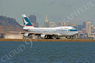 B747 00105 Boeing 747 Cathay Pacific B-HOR by Peter J Mancus