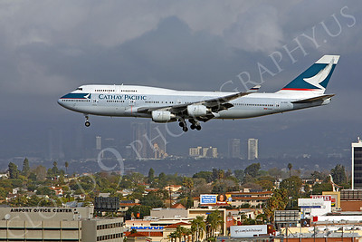 B747 00126 Boeing 747-400 Cathay Pacific Airline B-HUA by Peter J Mancus