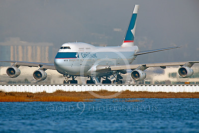B747 00253 Boeing 747 Cathay Pacific B-HUI by Peter J Mancus
