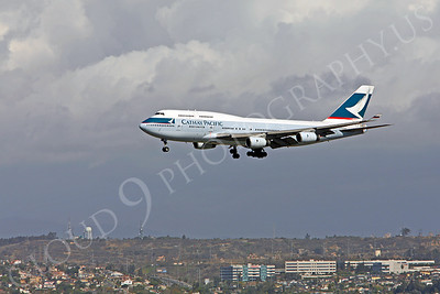 B747 00150 Boeing 747-400 Cathay Pacific B-HOR by Peter J Mancus
