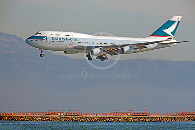 B747 00130 Boeing 747 Cathay Pacific B-HUI by Peter J Mancus