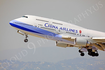CUNALPJ 00124 Boeing 747 China Airlines B-18212 by Peter J Mancus