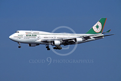 B747 00152 Boeing 747 Eva Air Airline B-16465 SFO October 2003 by Peter J Mancus