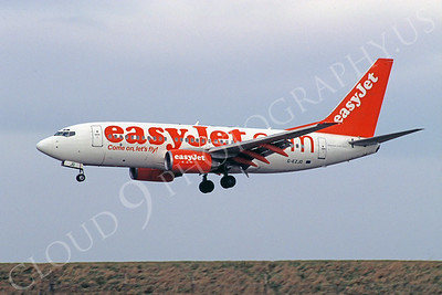 B737 00048 Boeing 737 Easy Jet G-EZJO 16 March 2005 by Stephen W D Wolf
