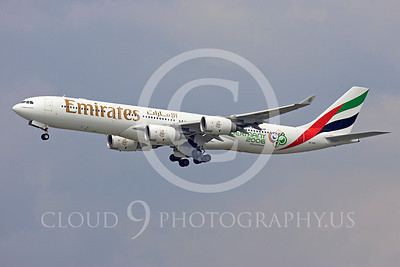 A340 00182 Airbus A340 Emirates A6-ERC by Peter J Mancus