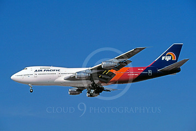 B747 00076 Boeing 747 Air Pacific Fiji DQ-FJE December 1998 by Peter J Mancus
