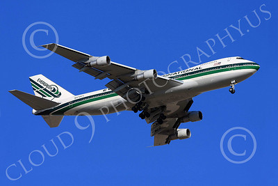 B747 00160 A flying Evergreen International Boeing 747 N470EV airliner picture, by Carl E Porter