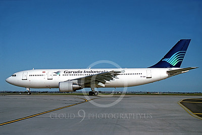 A300 00005 Airbus A300 Garuda Indonesia PC-GAN August 2002 by Peter J Mancus