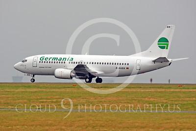 B737P 00039 Boeing 737-300 Germania D-AGEK by Peter J Mancus