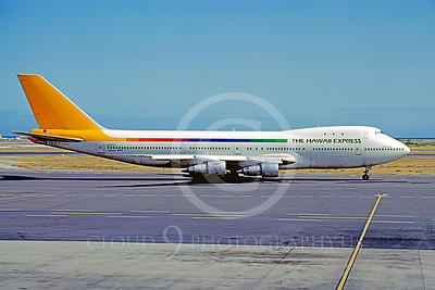 B747 00033 Boeing 747 The Hawaii Express N355AS May 1983 by Mike Machat