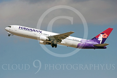 B767 00134 Boeing 767 Hawaiian Airlines N586HA by Dave Budd