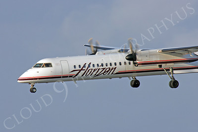 Bombardier Dash 8 Series 400 00012 Horizon Airline by Peter J Mancus