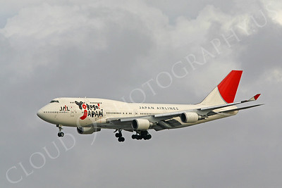 B747 00044 Boeing 747-400 Japan Airline Yokoso Japan by Peter J Mancus