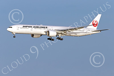 B777P 00508 A Boeing 777 Japan Airline JA733J on final approach to land at SFO 12-2014 airliner picture by Peter J Mancus