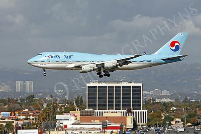 B747 00188 Boeing 747-400 Korean Airlines HL7489 by Peter J Mancus