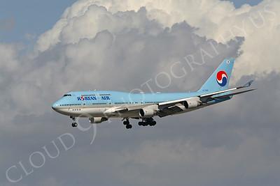 B747 00234 Boeing 747-400 Korean Air HL7489 by Peter J Mancus