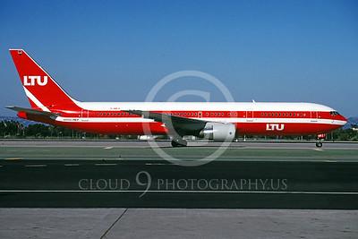 B767 00019 Boeing 767 LTU Airline D-AMUS March 1998 by Peter J Mancus