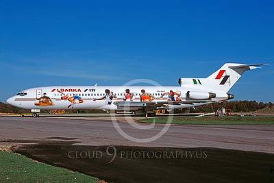 B727 00019 Boeing 727 Lbarka 5N-IMM November 2001 via African Aviation Slide Service
