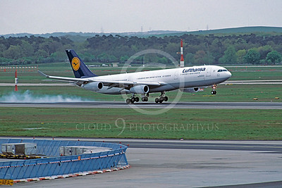 A340 00011 Airbus A340 Lufthansa 28 April 2002 by Stephen W D Wolf