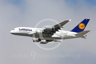 A380 00070 A flying Lufthansa Airbus A380 D-AIMB airliner picture, by Peter J Mancus