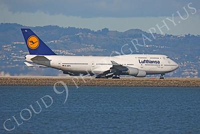 B747 00279 Boeing 747-400 Lufthansa D-ABTL by Peter J Mancus