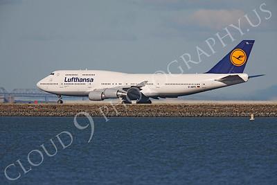 B747 01349 Boeing 747-400 Lufthansa D-ABTL by Peter J Mancus
