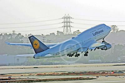 B747 00066 Boeing 747-400 Lufthansa D-ABVB by Peter J Mancus