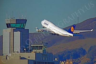 B747 00186 Boeing 747 Lufthansa D-ABTC by Peter J Mancus