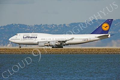 B747 00187 Boeing 747-400 Lufthansa D-ABTL by Peter J Mancus