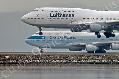 B747 00454 Boeing 747 Lufthansa D-ABVW by Peter J Mancus