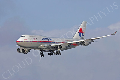 B747 00240 Boeing 747-400 Malaysia by Peter J Mancus