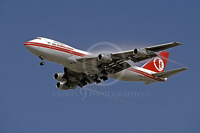 B747 00058 Boeing 747 Malaysian Airline 9M-MHJ October 1991 by Peter J Mancus