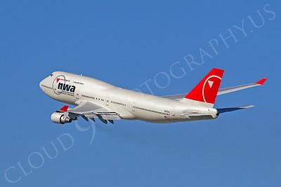 B747 00072 Boeing 747-400 Northwest N662US by Tim P Wagenknecht