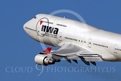 CUNALPJ 00100 Boeing 747-400 Northwest Airline N662US by Tim Wagenknecht