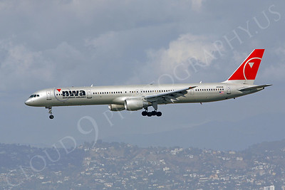 B757 00150 Boeing 757 Northwest Airline N594NW by Peter J Mancus