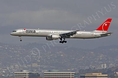 B757 00120 Boeing 757 Northwest Airline N590NW by Peter J Mancus