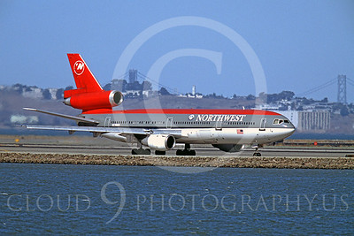 DC-10 00001 Douglas DC-10 Northwest Airline K239NW SFO October 2003 by Peter J Mancus