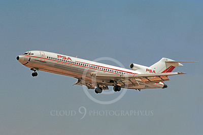 B727 00118 Boeing 727 PSA August 1971 by William T Larkins