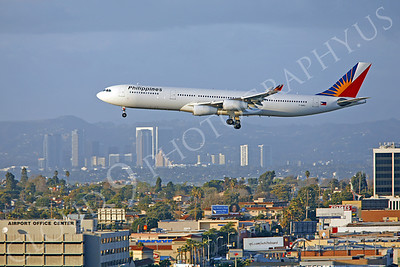 A340 00086 A340-300 Philippines Airline F-OHPL by Peter J Mancus