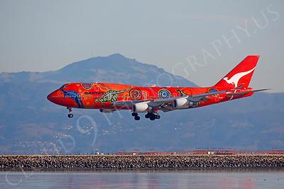 B747 00102 Boeing 747 Qantas Wunala Dreaming VH-OEJ by Peter J Mancus