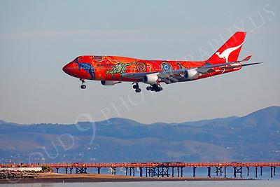 B747 00168 Boeing 747 Qantas Wunala Dreaming VH-OEJ by Peter J Mancus