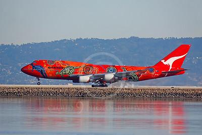 B747 00202 Boeing 747 Qantas Wunala Dreaming VH-OEJ by Peter J Mancus