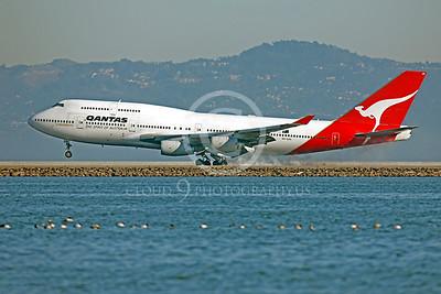 B747 00237 Boeing 747 Qantas VH-OJH by Peter J Mancus