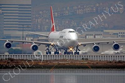 B747 00303 Boeing 747 Qantas VH-OEH by Peter J Mancus