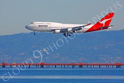 B747 00486 Boeing 747 Qantas VH-OED by Peter J Mancus
