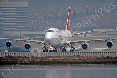 B747 00411 Boeing 747 Qantas VH-OEH by Peter J Mancus