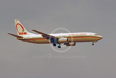 B737 00148 Boeing 737-800 Royal Air Maroc CN-RNJ by Stephen W D Wolf