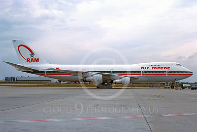 B747 00193 Boeing 747 Royal Air Maroc September 1997 via African Aviation Slide Service