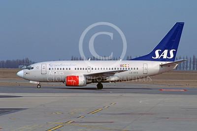B737 00195 Boeing 737 Scandanavian Airline LN-RPX by Stephen W D Wolf